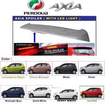 Perodua AXIA OEM Spoiler with break LED light and painting - Silver