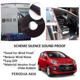 Perodua Axia SCHEME SILENCE (Double D) DIY Air Tight Slim Rubber Seal Stripe Sound & Wind Proof & Sound Proof for Car (4 Doors)