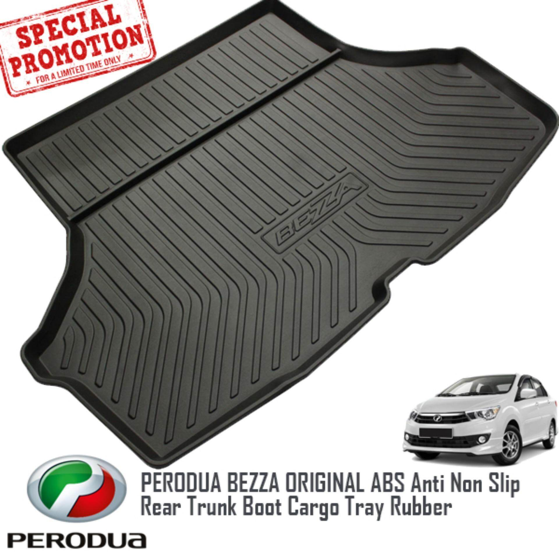 PERODUA BEZZA ORIGINAL ABS Rubber Anti Non Slip Rear Trunk Boot Cargo Tray