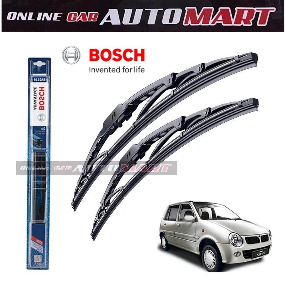 Perodua Kancil /Kelisa - Bosch Advantage Wiper Blade (Set) - Compatible only with U-Hook Type - 16 inch & 18 inch