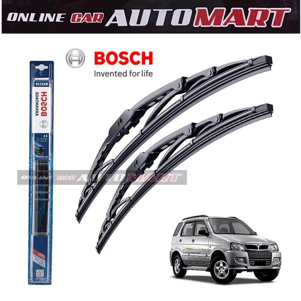 Perodua Kembara / Axia - Bosch Advantage Wiper Blade (Set) - Compatible only with U-Hook Type - 20 inch & 14 inch