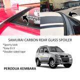 Broz Perodua Kembara Samurai Carbon Rear Top Windscreen OEM Glass Spoiler (4.5cm)
