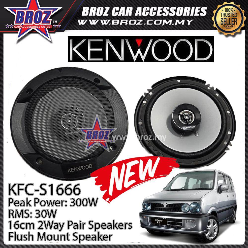 Broz Perodua Kenari Rear Kenwood KFC-S1666 Stage Sound Series 2 Way Speakers