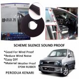 Perodua Kenari SCHEME SILENCE (Double D) DIY Air Tight Slim Rubber Seal Stripe Sound & Wind Proof & Sound Proof for Car (4 Doors)