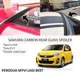 Broz Perodua Myvi Lagi Best / Icon Samurai Carbon Rear Top Windscreen OEM Glass Spoiler (4.5cm)