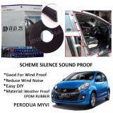 Perodua Myvi Lagi Best / Icon SCHEME SILENCE (Double D) DIY Air Tight Slim Rubber Seal Stripe Sound & Wind Proof & Sound Proof for Car (4 Doors)