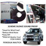 Perodua Nautica SCHEME SILENCE (Double D) DIY Air Tight Slim Rubber Seal Stripe Sound & Wind Proof & Sound Proof for Car (4 Doors)