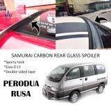 Broz Perodua Rusa Samurai Carbon Rear Top Windscreen OEM Glass Spoiler (4.5cm)