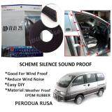 Perodua Rusa SCHEME SILENCE (Double D) DIY Air Tight Slim Rubber Seal Stripe Sound & Wind Proof & Sound Proof for Car (4 Doors)