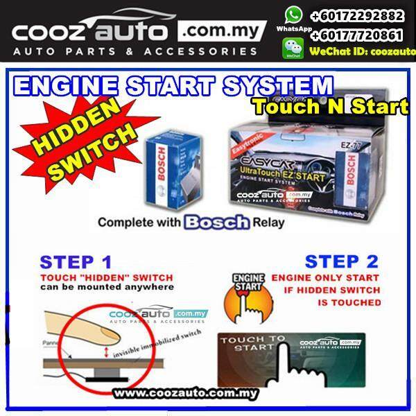 Perodua Viva EasyCar ANTI-THEFT Ultra Touch n Start InvisibleHidden Switch Engine Start System - intl
