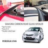Broz Perodua Viva Samurai Carbon Rear Top Windscreen OEM Glass Spoiler (4.5cm)