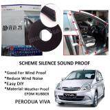 Perodua Viva SCHEME SILENCE (Double D) DIY Air Tight Slim Rubber Seal Stripe Sound & Wind Proof & Sound Proof for Car (4 Doors)