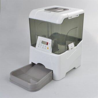 Pet Dog Cat Automatic Food and Water Dispenser Automatic Feeder(Grey)