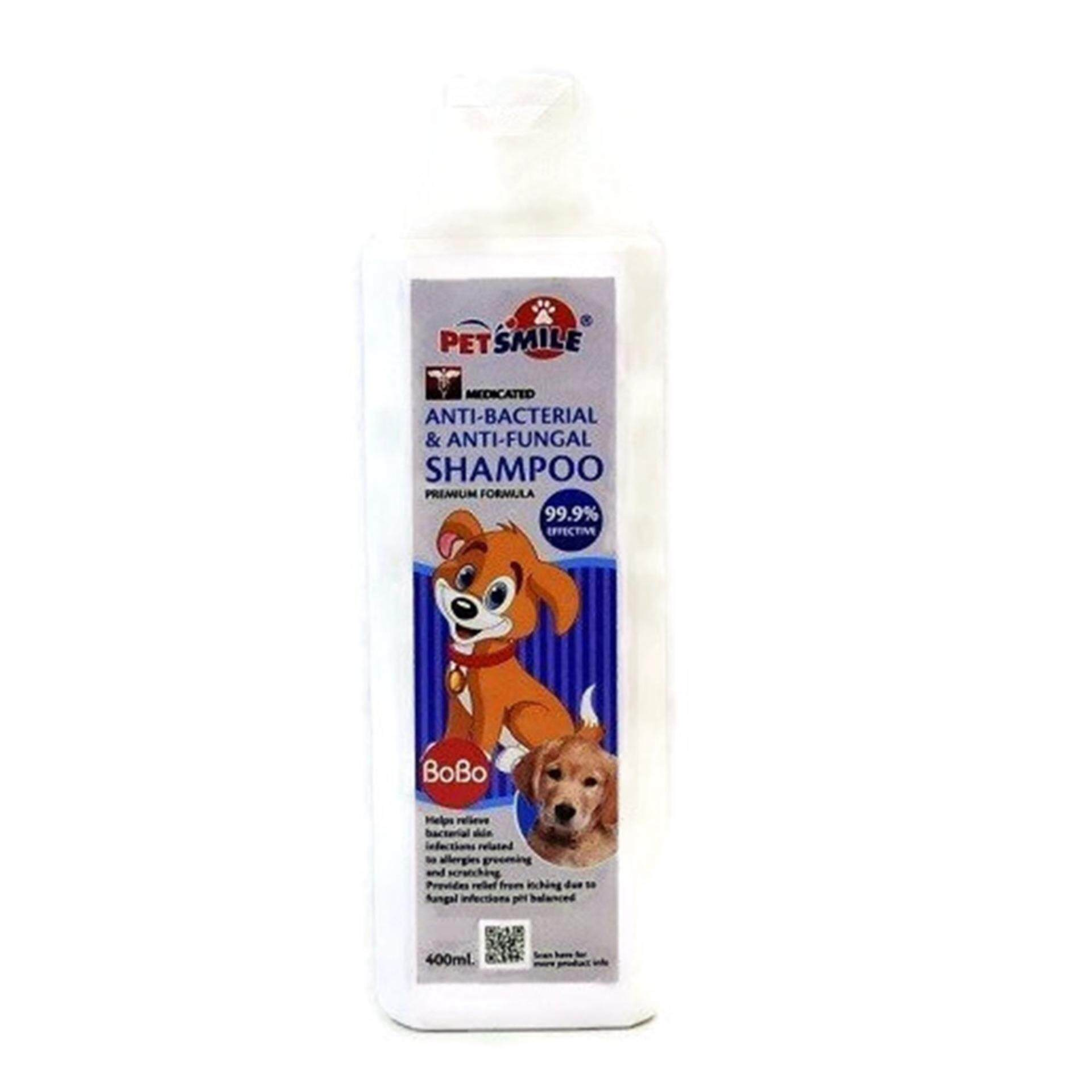 PET SMILE BOBO ANTI-BACTERIA DOG SHAMPOO 400ML