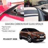 Broz Peugeot 3008 Samurai Carbon Rear Top Windscreen OEM Glass Spoiler (4.5cm)