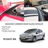 Broz Peugeot 408 Samurai Carbon Rear Top Windscreen OEM Glass Spoiler (4.5cm)