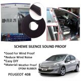 Peugeot 408 SCHEME SILENCE (Double D) DIY Air Tight Slim Rubber Seal Stripe Sound & Wind Proof & Sound Proof for Car (4 Doors)