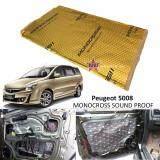 Peugeot 5008 MONOCROSS Car Auto Vehicle High Quality Exhaust Muffler Heat Sound Proofing Deadening Insulation Mat Pad Waterproof 80x45cm (GOLD)