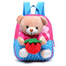 โปรโมชั่น Plush Bear 2 8 Years Old Kids Cute Lovely Cartoon Sch**l Or Travel Shoulder Bags Color Blue Kisnow