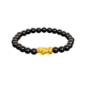 POH KONG 999.9/ 24K Pure Gold With Agate Jewellery Gift for Men & Women - Bracelet