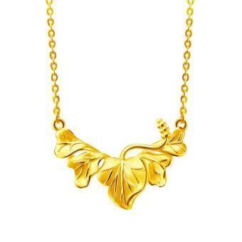 POH KONG Anggun Bunga Raya 916/22k Yellow Gold Jewellery Gift For Women - Gold Necklace, Rantai Emas