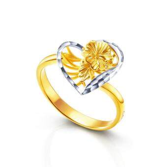 POH KONG Anggun Manja 916/22k Yellow Gold Jewellery Gift For Women & Kids - Gold Ring, Cincin Emas