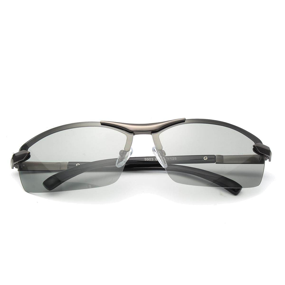 Terpolarisasi Photochromic Sunglass Pria Kolam Mengemudi Transisi Lensa Kacamata Hitam Abu-abu-Internasional