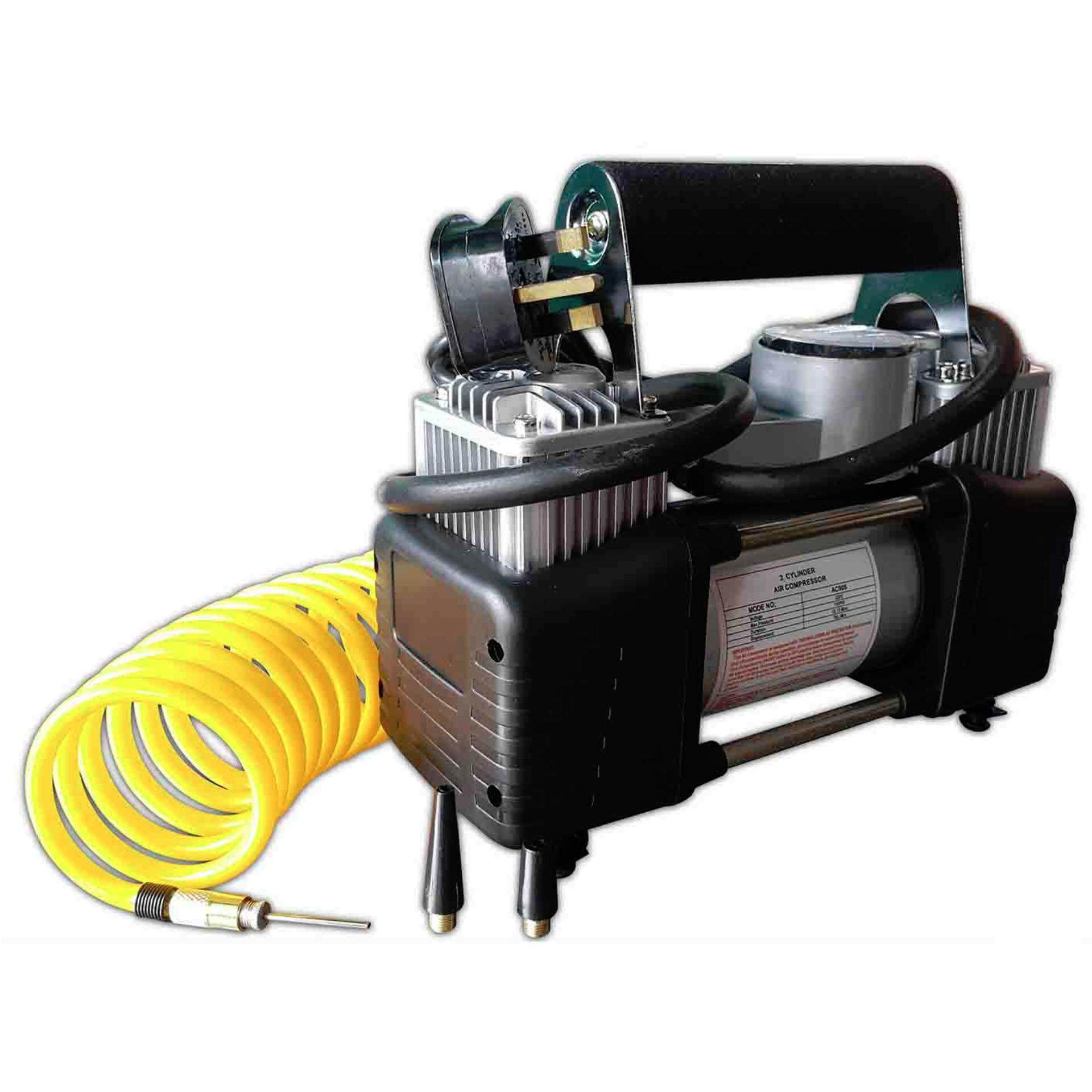 Portable Electric Air Double Cylinder Compressor With Meter High Quality