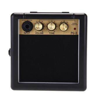 Harga Portable Mini Electric Guitar Amplifier Speaker Speakers Amp 3WBlack And Gold