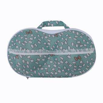 Portable Organizer Case Bag for Underwear Lingerie Bra Protect EVA Travel Blue