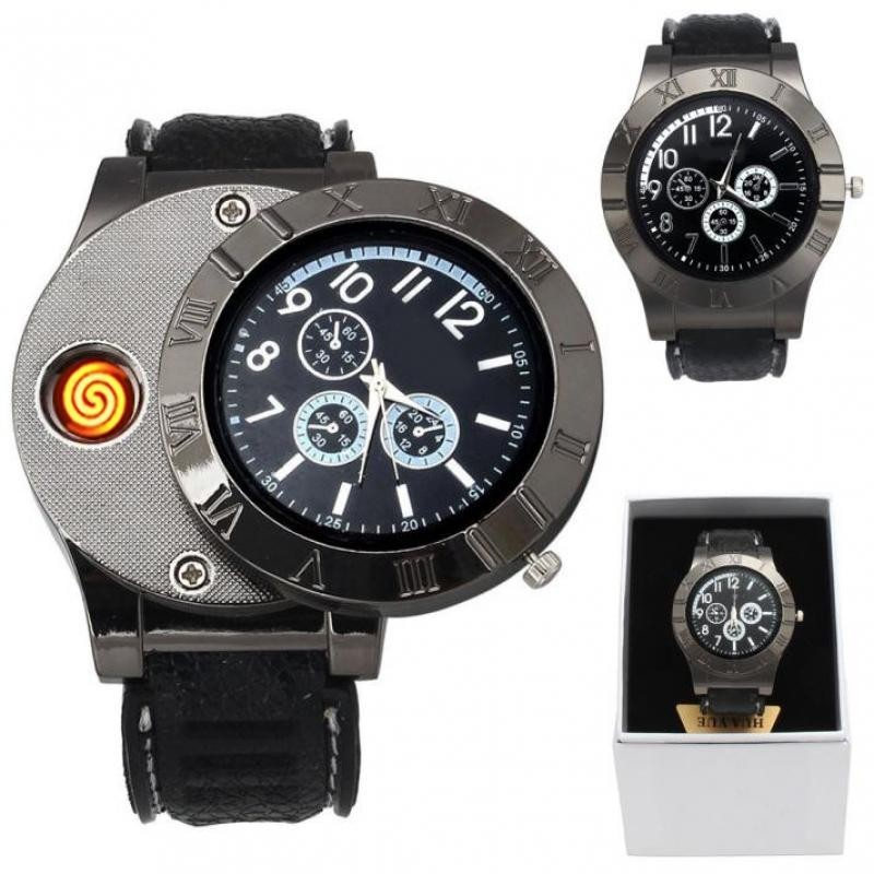 CURREN Cigarrete Electronic Lighter USB Rechargeable Quartz Wrist Watch Malaysia