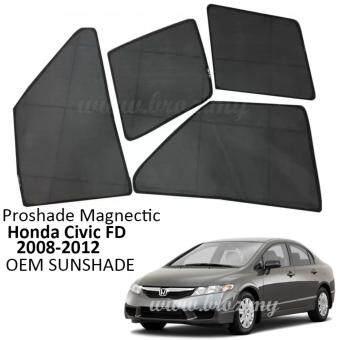 Proshade Magnetic Custom Fit OEM Sunshades/ Sun shades for HondaCivic FD 2006-2011 (4PCS)