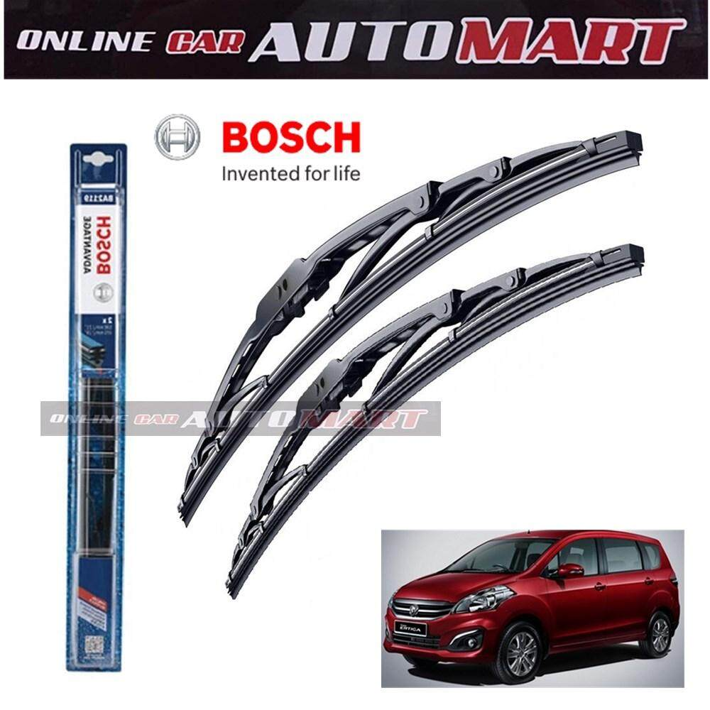 "Proton Ertiga - Bosch Advantage Wiper Blade (Set) - Compatible only with U-Hook Type - 21""/14"" 1 Pair"