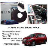 Proton Ertiga SCHEME SILENCE (Double D) DIY Air Tight Slim Rubber Seal Stripe Sound & Wind Proof & Sound Proof for Car (4 Doors)