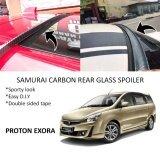 Broz Proton Exora Samurai Carbon Rear Top Windscreen OEM Glass Spoiler (4.5cm)