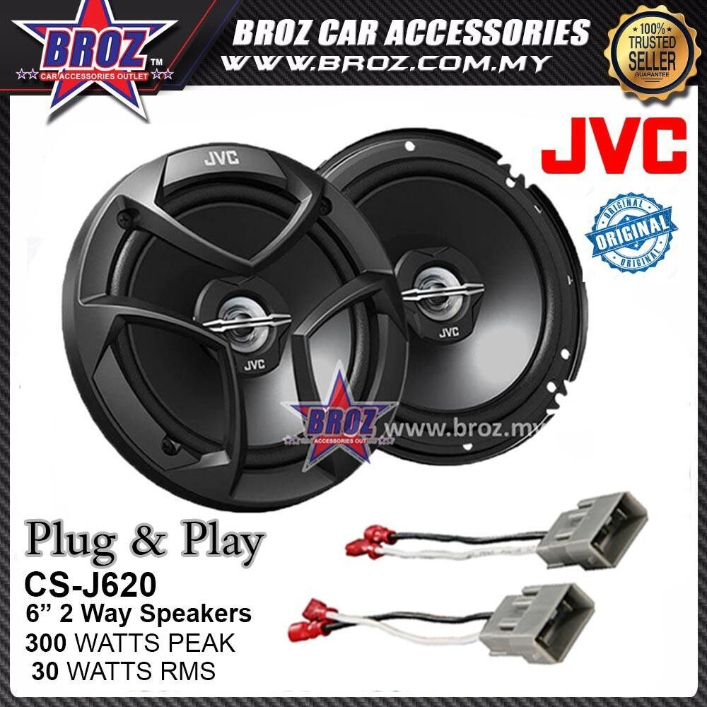 Broz Proton Iriz Plug & Play Rear JVC CS-J620 300W 6-1/2 CS Series 2-Way Speaker