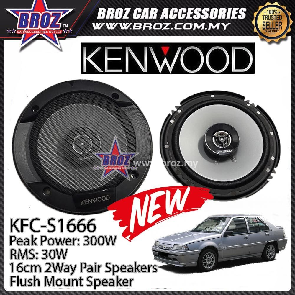 Broz Proton Iswara Sedan Rear Kenwood KFC-S1666 Stage Sound Series 2 Way Speakers
