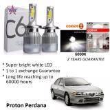 Proton Perdana (Head Lamp) C6 LED Light Car Headlight Auto Head light Lamp 6500k White Light (Free Osram T10 LED)