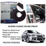Proton Persona Old SCHEME SILENCE (Double D) DIY Air Tight Slim Rubber Seal Stripe Sound & Wind Proof & Sound Proof for Car (4 Doors)