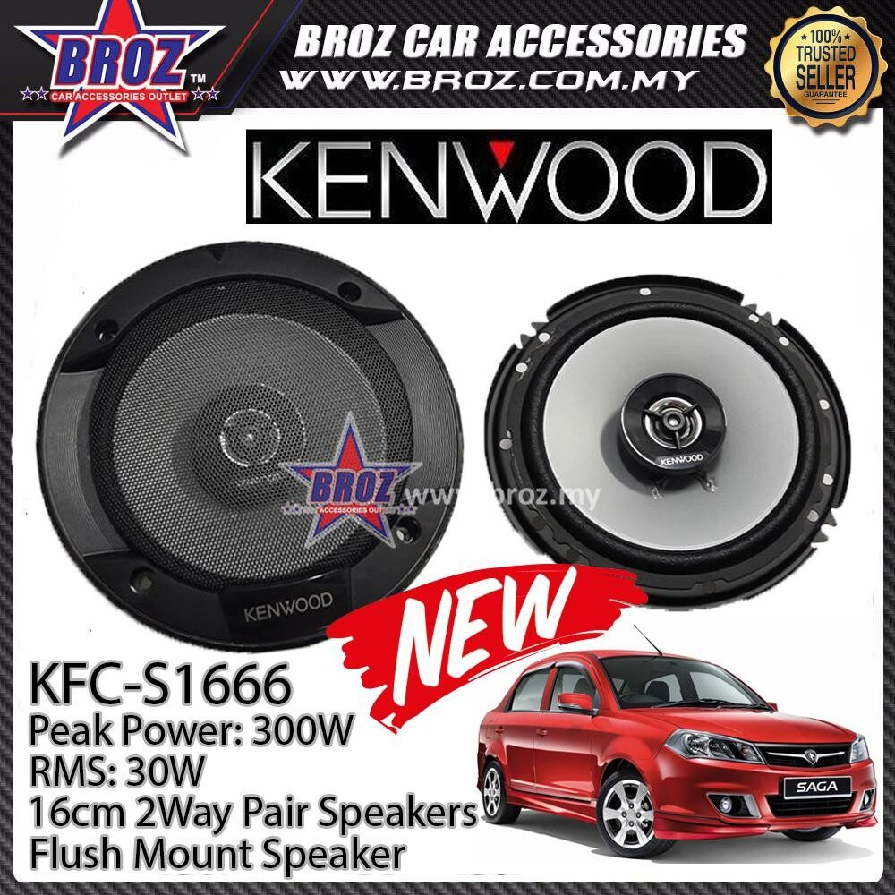 Broz Proton Saga BLM / FLX Rear Kenwood KFC-S1666 Stage Sound Series 2 Way Speakers