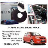 Proton Savvy SCHEME SILENCE (Double D) DIY Air Tight Slim Rubber Seal Stripe Sound & Wind Proof & Sound Proof for Car (4 Doors)