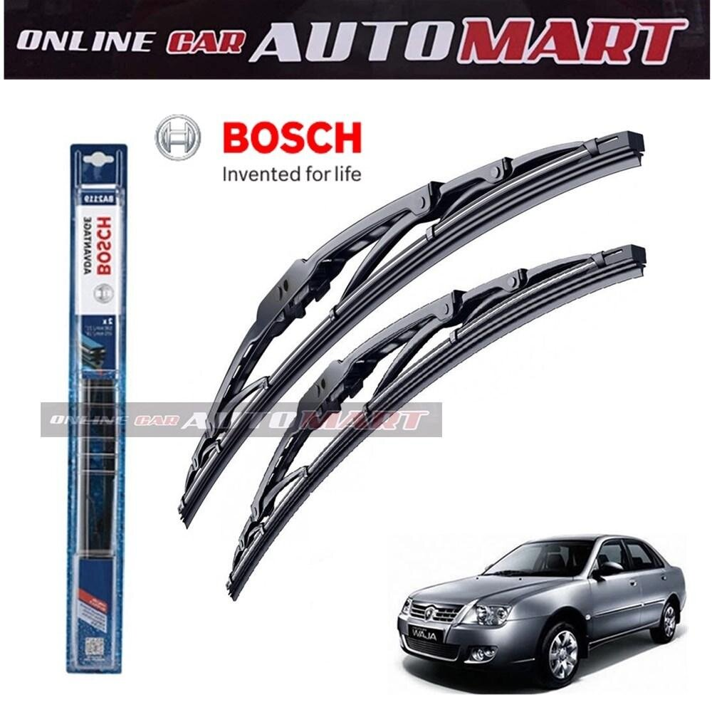 PROTON WAJA - Bosch Advantage Wiper Blade (Set) - Compatible only with U-Hook Type - 19 inch & 21 inch