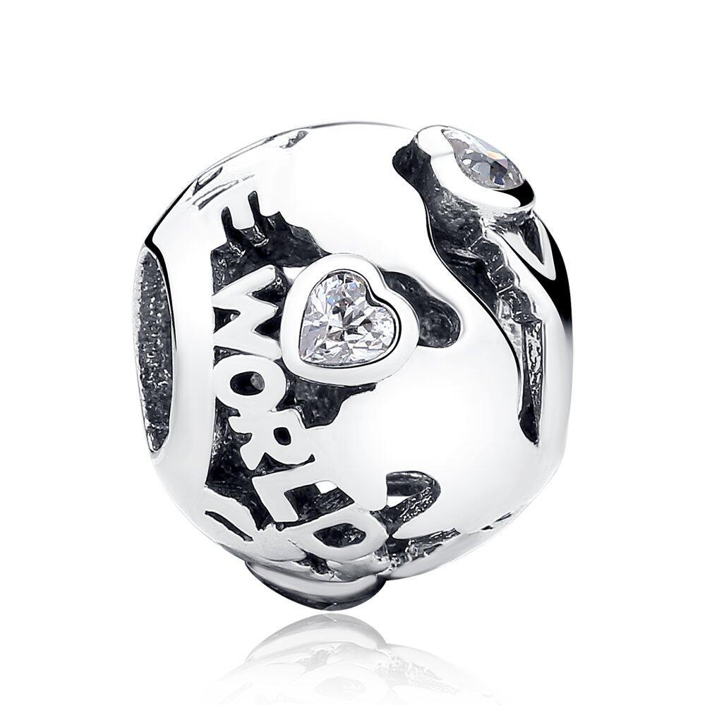 Toko Murni 925 Sterling Silver Di Seluruh Dunia Clear Cz Ball Beads Pesona Fit Asli Gelang Kalung Diy Perhiasan Pas105 Terlengkap