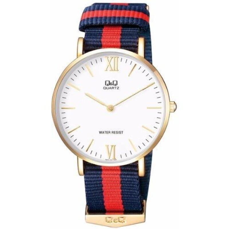 Q&Q Q974J131Y By Citizen White Dial Red Blue Nylon Analog Classic Watch Malaysia