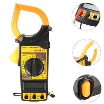 QNIGLO DT266 Electronic Digital Clamp Meter Multimeter AC DCCurrent Voltage Tester Tool Yellow
