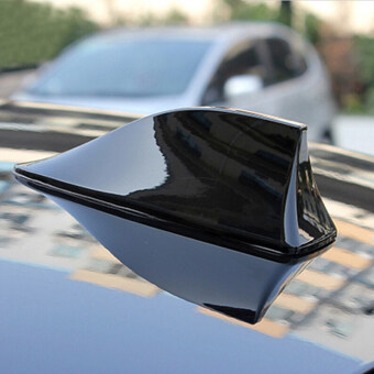Radio Shark Fin Antenna Car Arial Universal Fit For Ford FocusFusion Kuga Ecosport Fiesta Falcon EDGE EVOS START C-MAX(Black)