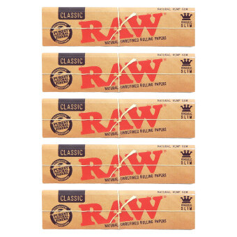 Harga Raw King Size Slim Papers x 5