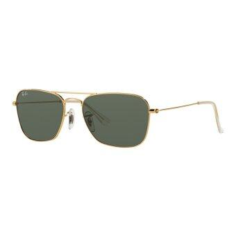 Ray-Ban Caravan Crystal Green Lenses RB3136 001 Arista Sunglasses[58] - 2