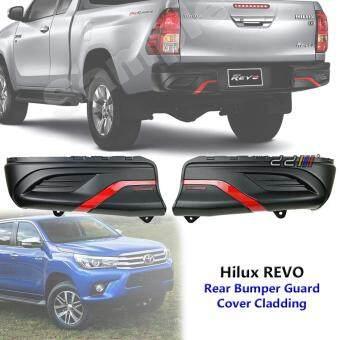 Rear Bumper Guard Cover Cladding TRD Style For Toyota Hilux REVO 2015 2016 2017