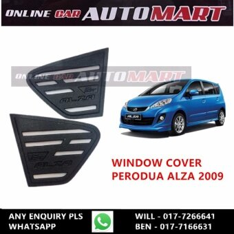 Harga Rear Side Window Cover for Perodua Alza (2009 - Present)